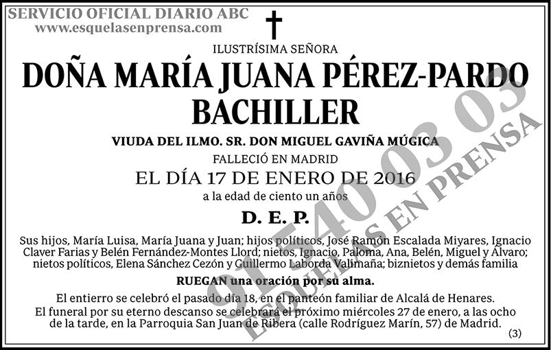 María Juana Pérez-Pardo Bachiller
